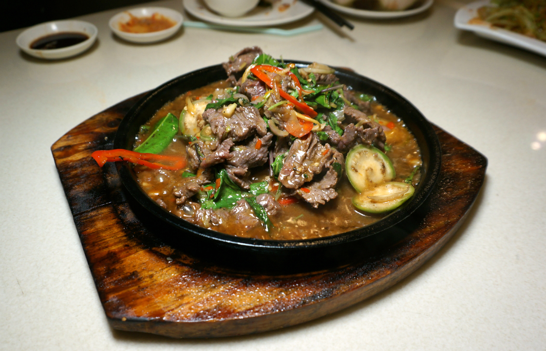 San Thai Ouk Macau: Beef on Iron Plate
