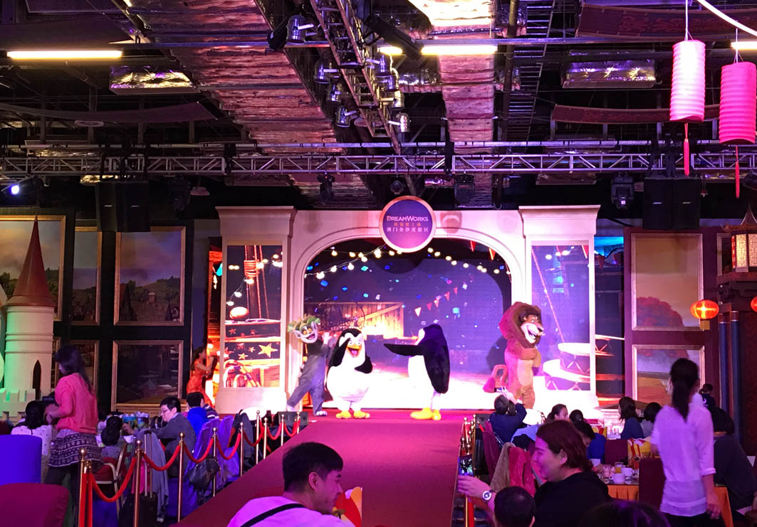 Dreamworks Experience Sands Cotai Macau: Characters on Stage