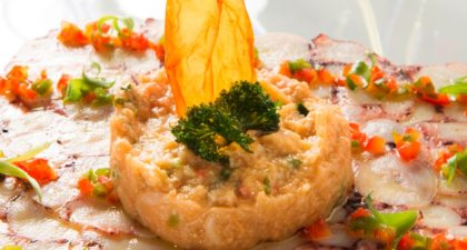 Fado: Crab Bread Stew with Octopus Carpaccio