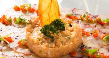 Fado: Crab Bread Stew with Octopus Carpaccio