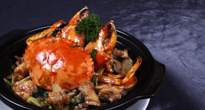 L'Arc Chinese Restaurant: Stir-fried Crab and Chicken with Ginger and Scallion