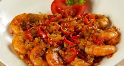 A Lorcha: Fried Prawns