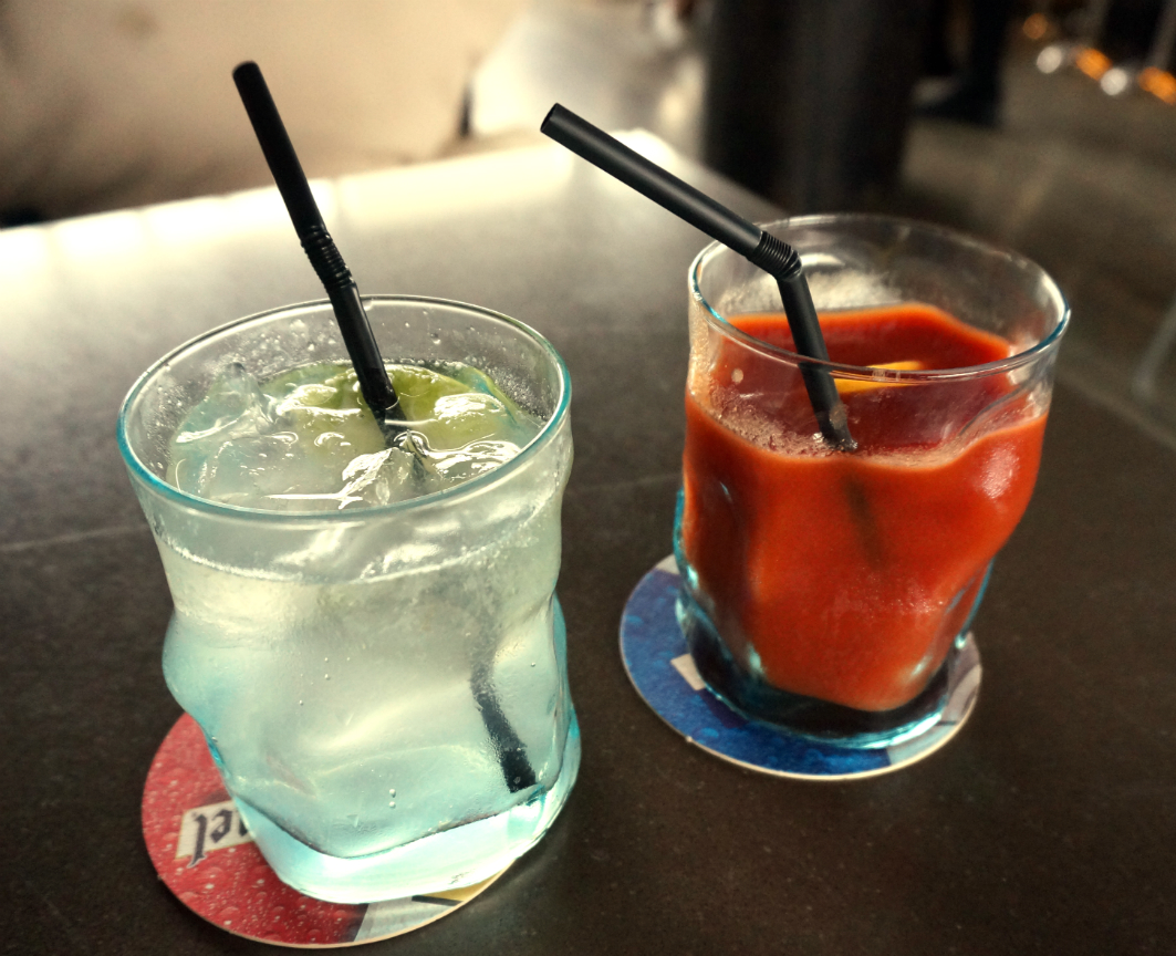 Sky 21 Macau: Lime Soda and Tomato Juice