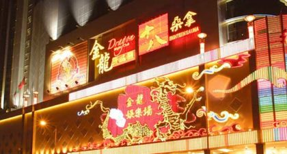 Casino Golden Dragon: Night Facade