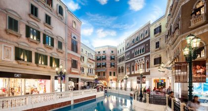 Venetian Macao: Shops along the Canal
