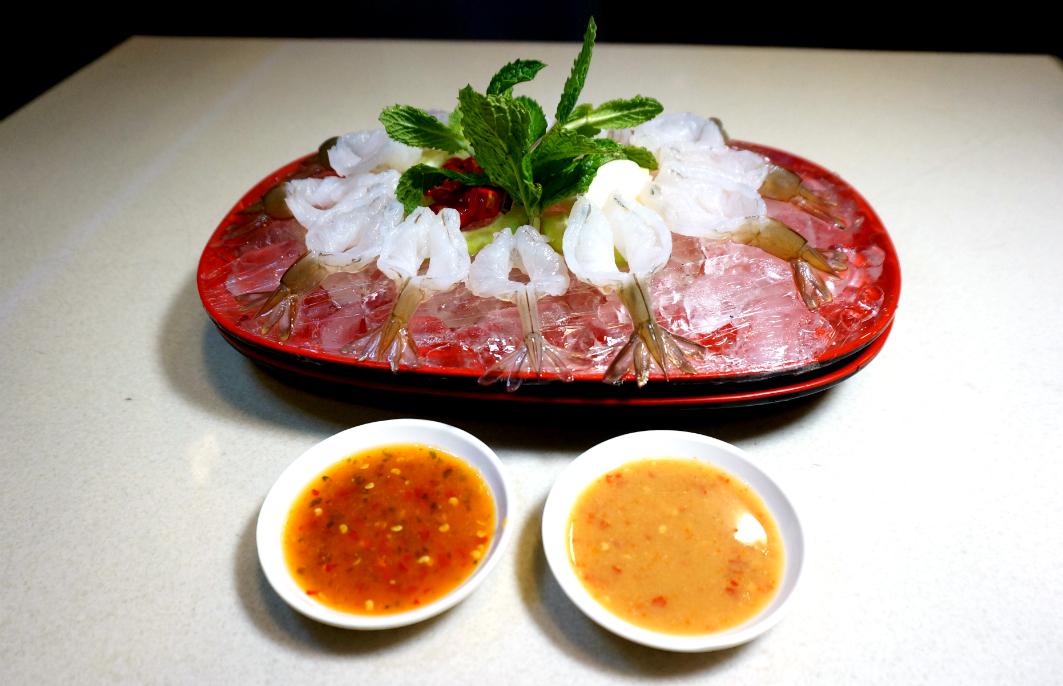 San Thai Ouk Macau: Shrimp Sashimi