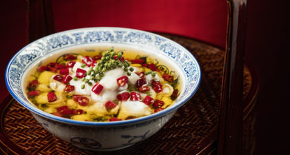 Bi Ying: Sichuan style poached mandarin fish in hot and spicy oil