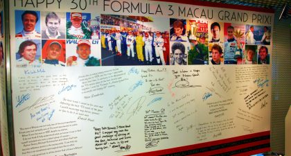 Formula 3 Macau: Signature Board