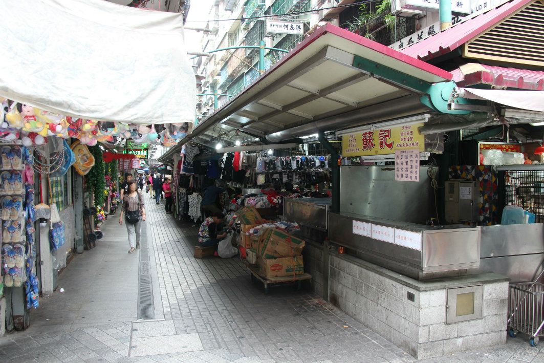 Three Lamps District in Macau: Stores