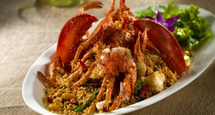 Golden Court: Wok fried Boston Lobster with Sichuan Chili
